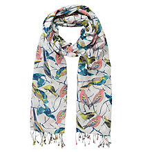 Buy John Lewis Bird Print Bamboo Scarf, Multi Online at johnlewis.com