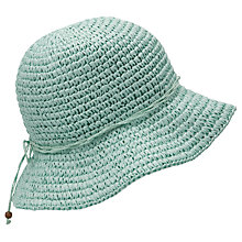 Buy John Lewis Knitted Cloche Hat, Pale Green Online at johnlewis.com