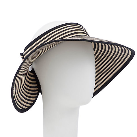 Buy John Lewis Stripe Visor, Black/White Online at johnlewis.com