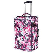 Buy Kipling Teagan 2-Wheel Duffle Bag, Small, Flower Online at johnlewis.com
