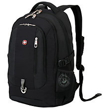 "Buy Wenger WL1195BK 15.4"" Laptop and Tablet Backpack, Black Online at johnlewis.com"
