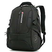 "Buy Wenger WL1195BK 17"" Laptop and Tablet Backpack, Black Online at johnlewis.com"