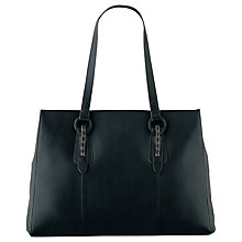 Buy Radley Clattercote Leather Work Bag, Black Online at johnlewis.com
