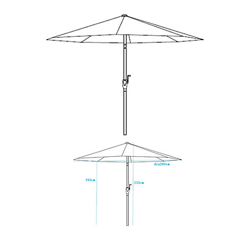 Buy John Lewis Wood-look Parasol, 275cm Online at johnlewis.com