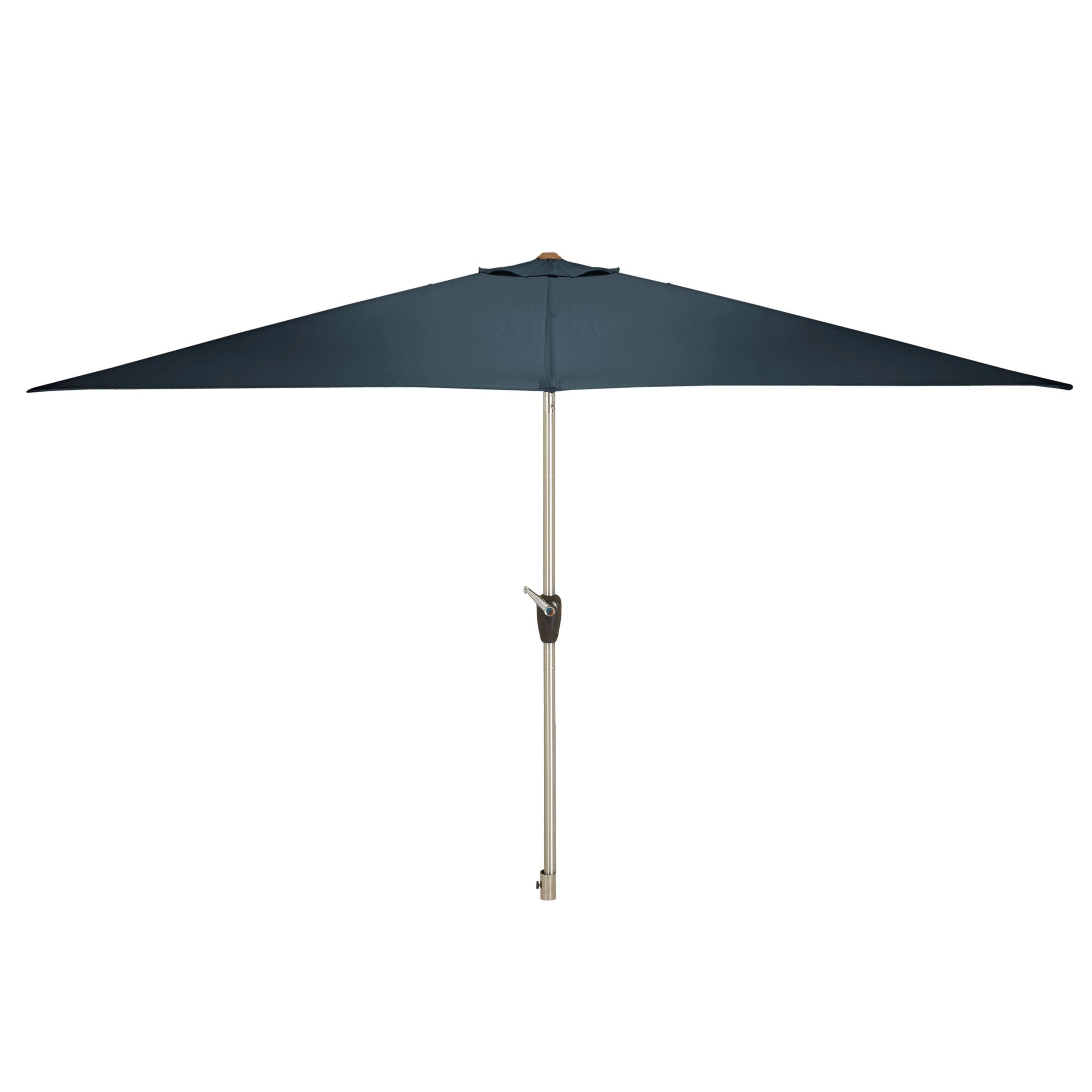 John Lewis Rectangular Parasol, 300cm, Steel