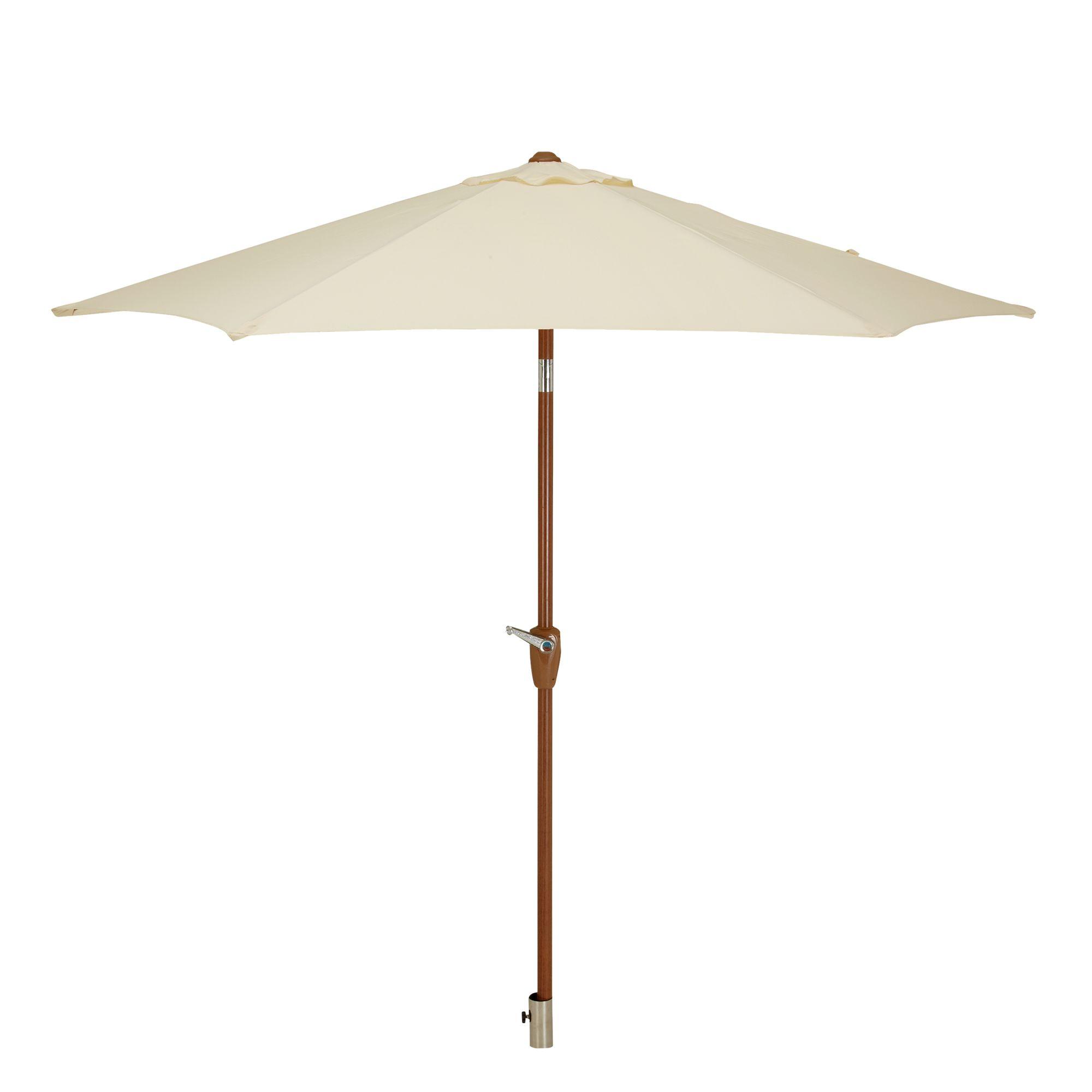 John Lewis Wood-look Parasol, 200cm