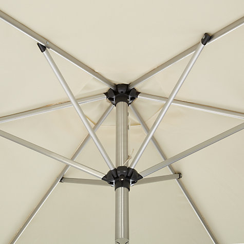 Buy John Lewis Stainless Steel Look Parasol, 200cm Online at johnlewis.com