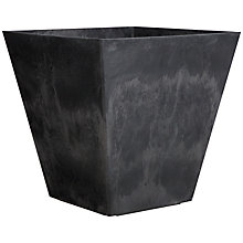 Buy Artstone Ella Pot / Planter, Black, H40cm Online at johnlewis.com