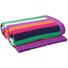 Buy John Lewis Striped Pram Baby Blanket, Multi Online at johnlewis.com