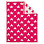 Buy John Lewis Knitted Star Pram Blanket, Fuchsia Online at johnlewis.com