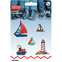 Buy Prym Embroidered Sailing Motifs, Set of 5 Online at johnlewis.com