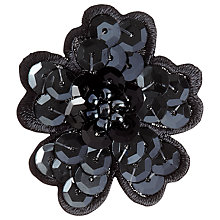 Buy Prym Sequined Flower Motif, Black Online at johnlewis.com