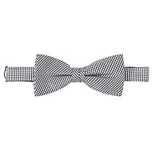 Buy John Lewis Puppytooth Bow Tie, Black/White Online at johnlewis.com
