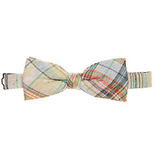 Buy John Lewis Slub Check Bow Tie, Yellow Online at johnlewis.com