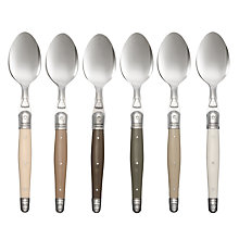 Buy Laguiole Dubost Tonal Dessert Spoons, Set of 6 Online at johnlewis.com