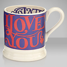 "Buy Emma Bridgewater ""I Love You More Than Chocolate"" Mug Online at johnlewis.com"