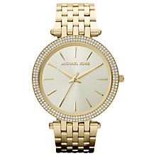 Buy Michael Kors MK3191 Women's Glitzy Bezel Watch, Gold Online at johnlewis.com