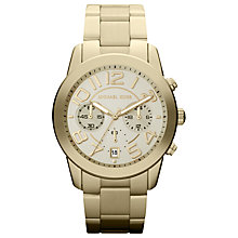 Buy Michael Kors Women's Stainless Steel Chronograph Watch Online at johnlewis.com