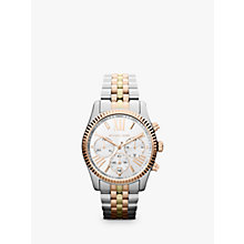 Buy Michael Kors MK5735 Women's Chronograph Triple Tone Bracelet Strap Watch, Multi Online at johnlewis.com