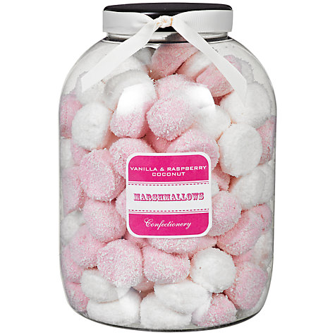 Buy Farhi Vanilla and Raspberry Coconut Marshmallows Jar, 1kg Online at johnlewis.com