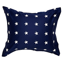Buy Gant All Over Star Oxford Pillowcase, Navy Online at johnlewis.com