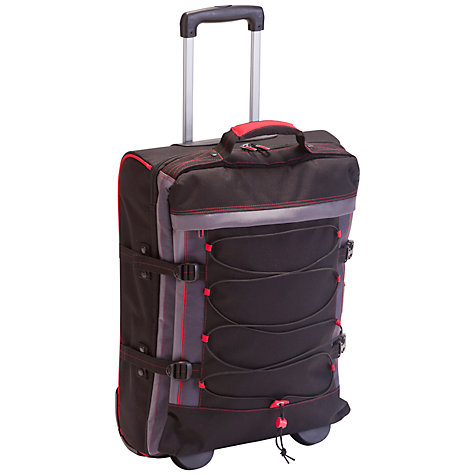 Buy John Lewis Explorer 2-Wheel Cabin Suitcase, Black/Red Online at johnlewis.com