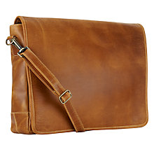 Buy John Lewis Nevada Leather Messenger Bag Online at johnlewis.com