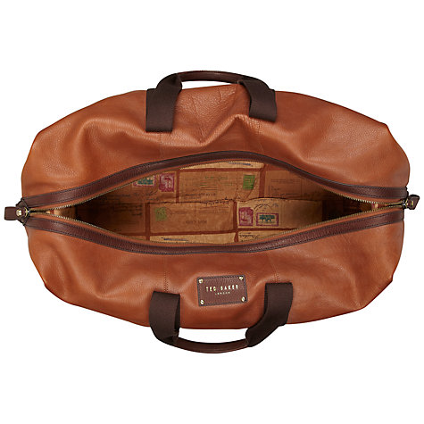 Buy Ted Baker Pedraza Leather Holdall Bag, Tan Online at johnlewis.com