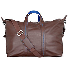 Buy Ted Baker Steepal PU Holdall Bag, Chocolate Online at johnlewis.com