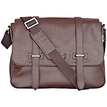 Buy Ted Baker Savill PU Messenger Bag, Chocolate Online at johnlewis.com