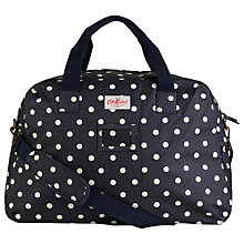 Buy Cath Kidston Spot PVC Cotton Holdall, Navy Online at johnlewis.com