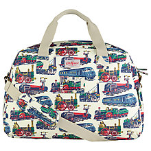 Buy Cath Kidston PVC Cotton Holdall, Train Cream Online at johnlewis.com