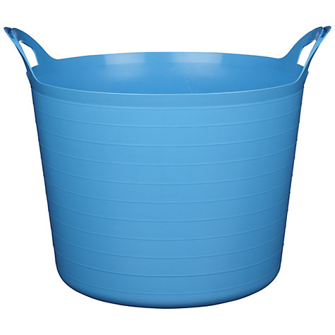 Buy little home at John Lewis Large Flexi Storage Tub, 43L, Blue Online at johnlewis.com