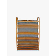 Buy John Lewis Fusion Laundry Hamper, brown Online at johnlewis.com
