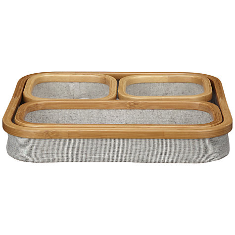 Buy John Lewis Fusion Trays, Set of 3 Online at johnlewis.com