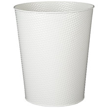 Buy House by John Lewis Embossed Wastepaper Bin, White Online at johnlewis.com