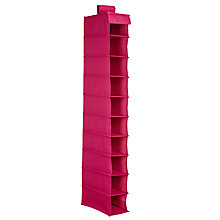 Buy House by John Lewis Hanging Shoe Organiser, Pink Online at johnlewis.com