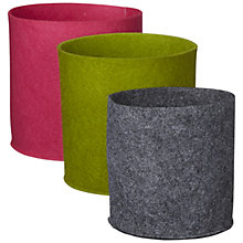 Buy John Lewis Felt Storage Pots, Set of 3, Multi Online at johnlewis.com