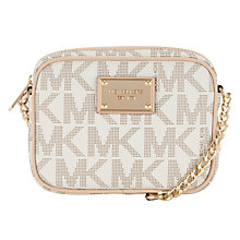 Buy MICHAEL Michael Kors Jet Set 18K Across Body Handbag, Vanilla Online at johnlewis.com