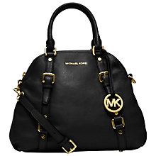 Buy MICHAEL Michael Kors Bedford Leather Bowling Bag, Black Online at johnlewis.com
