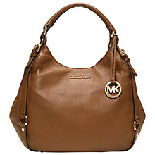 Buy MICHAEL Michael Kors Bedford Large Shoulder Tote Bag, Brown Online at johnlewis.com