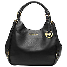 Buy MICHAEL Michael Kors Bedford Large Shoulder Tote Bag, Black Online at johnlewis.com