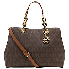 Buy MICHAEL Michael Kors Cynthia Leather Satchel Bag Online at johnlewis.com