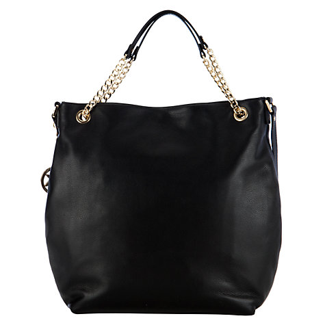 Buy MICHAEL Michael Kors Jet Set Chain Strap Leather Shoulder Handbag Online at johnlewis.com