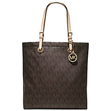Buy MICHAEL Michael Kors Jet Set Long Leather Tote Handbag Online at johnlewis.com