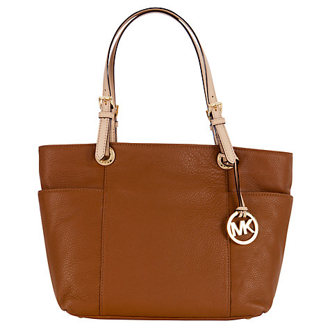 Buy MICHAEL Michael Kors Jet Set East/West Leather Tote Handbag Online at johnlewis.com