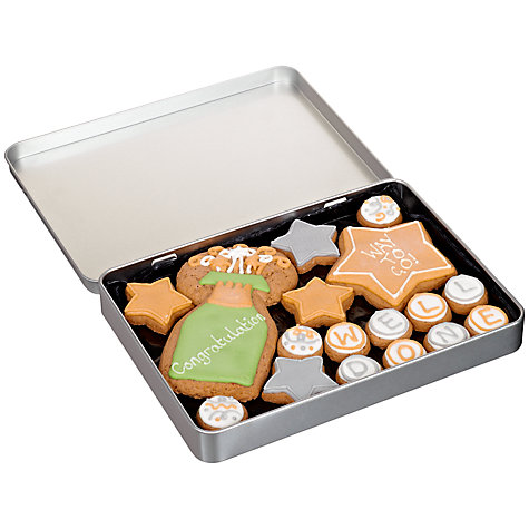 Buy Image on Food Congratulations Gingerbread Biscuit Tin, 150g Online at johnlewis.com