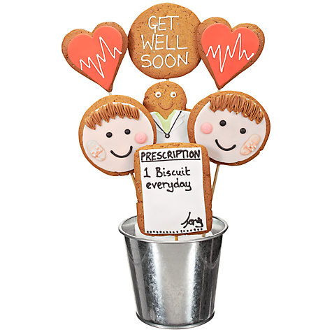 Buy Image on Food Get Well Soon Gingerbread Bouquet, 350g Online at johnlewis.com