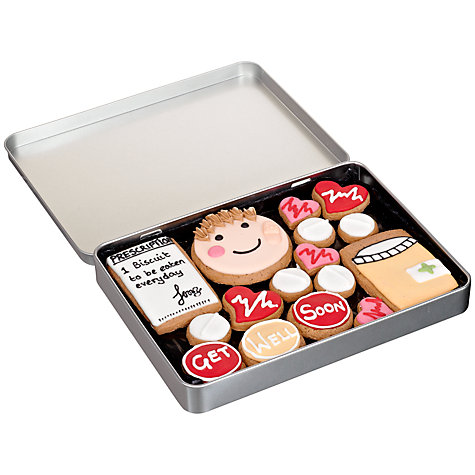 Buy Image on Food Get Well Soon Gingerbread Biscuit Tin, 150g Online at johnlewis.com