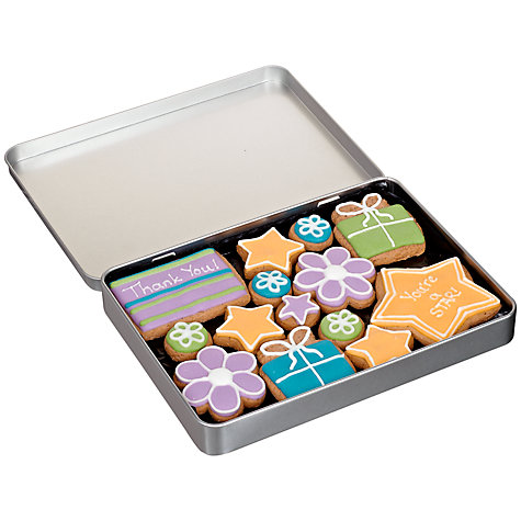 Buy Image on Food Thank You Gingerbread Biscuit Tin, 150g Online at johnlewis.com